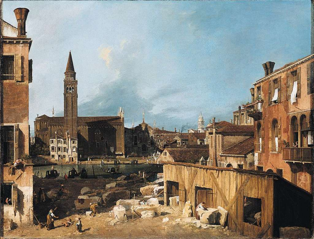 Canaletto - The Stonemasons Yard, c.1725