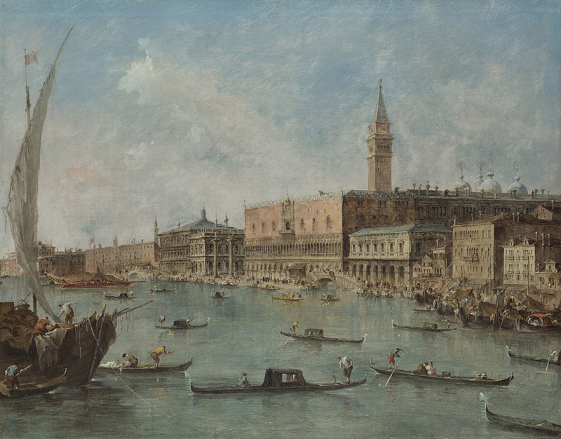 Guardi - The Doges Palace and the Molo, c.1770