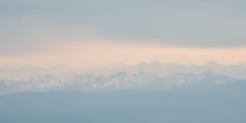 Dusk in the Dolomites