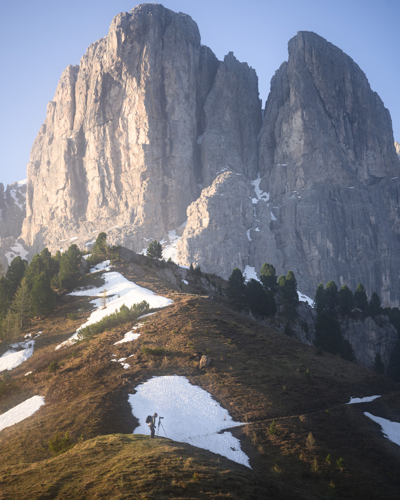 Sunrise at Passo Gardena