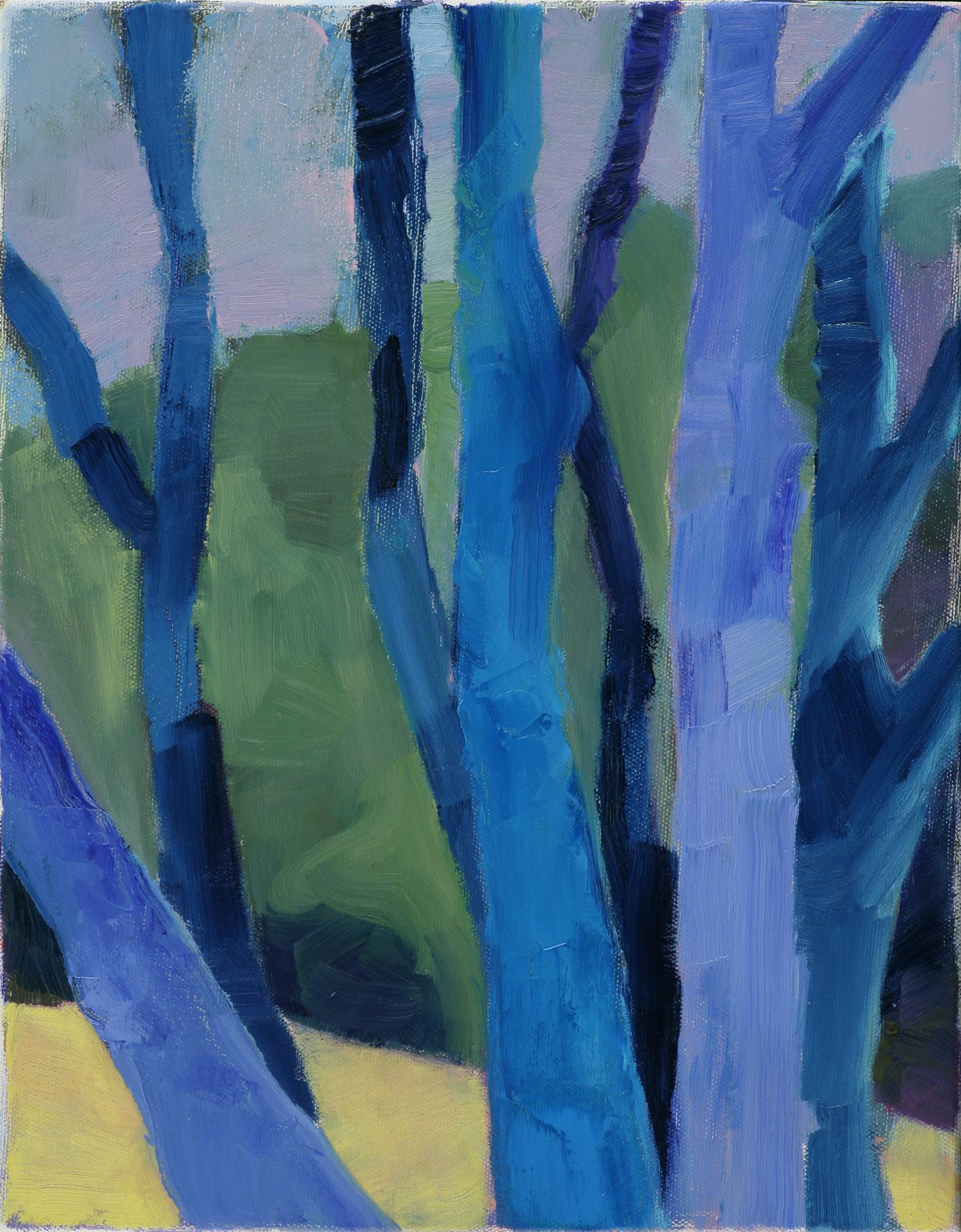 Blue Trees , 2009, oil on canvas, 11 x 14, SOLD