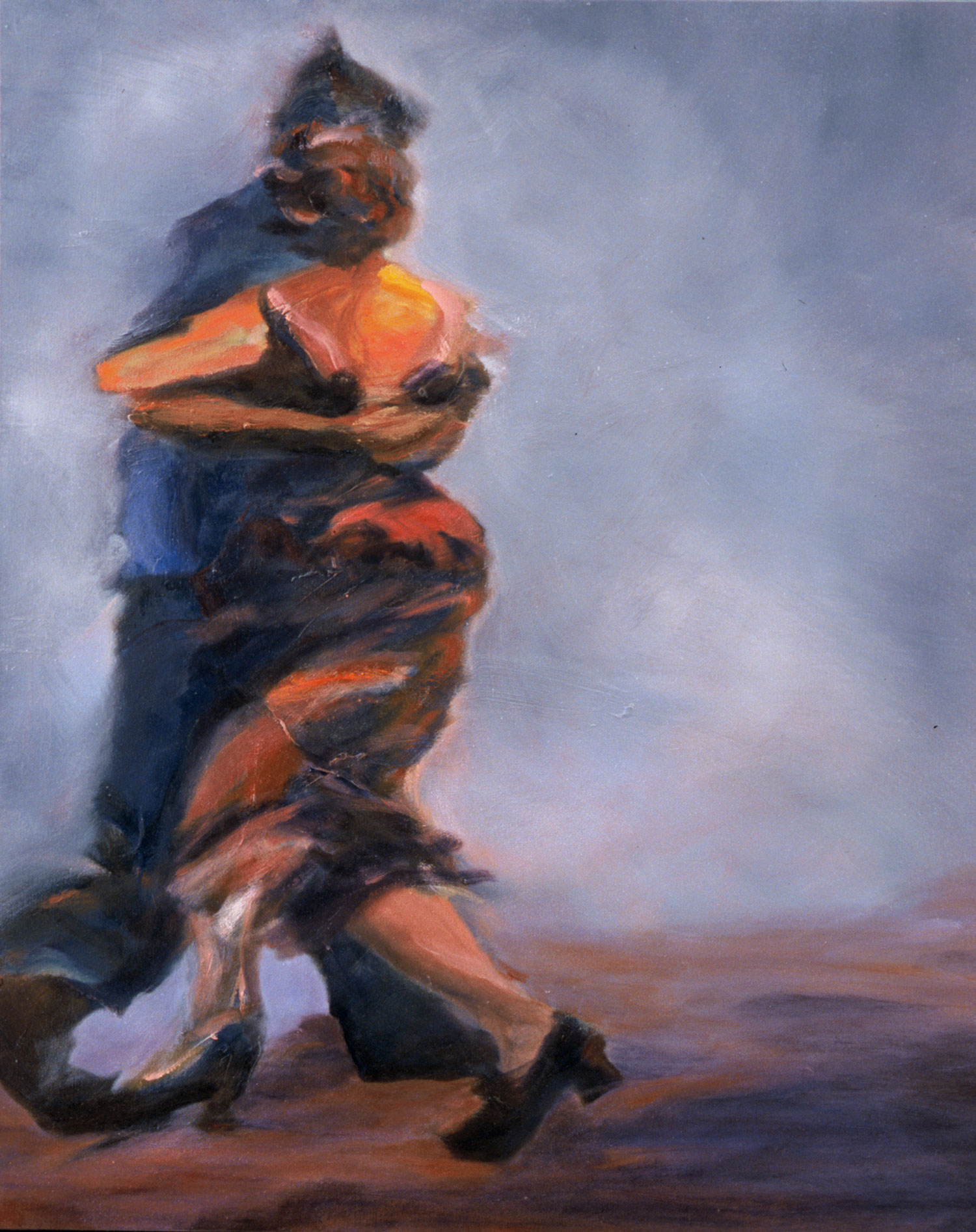 "Azul , 2004, oil canvas, 24 x 30"", SOLD"