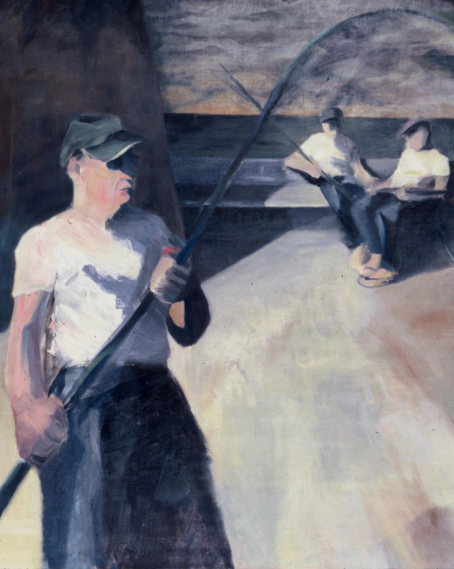 "Fishermen , 60 x 48"", oil canvas, 2003"