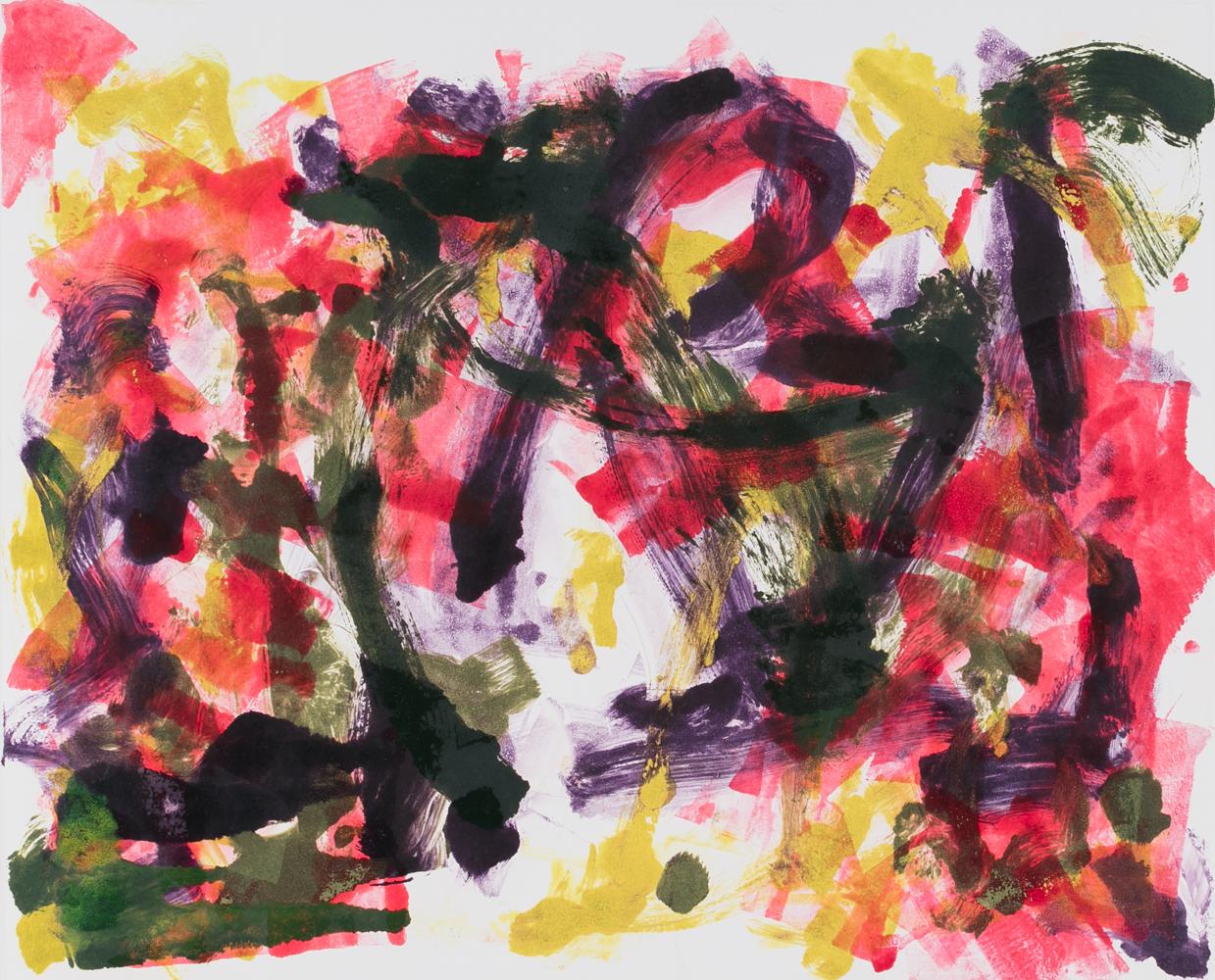 "Untitled, monoprint 12 x 15"""