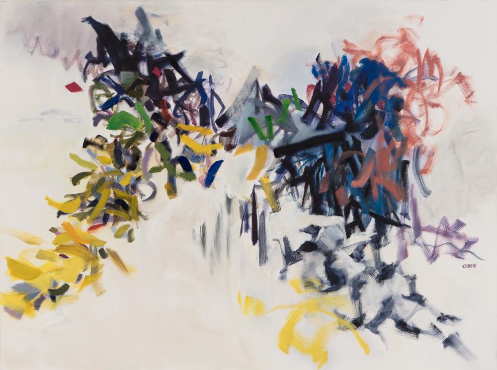 """Mountain II , 2018, oil on canvas, 36 x 48"""""""
