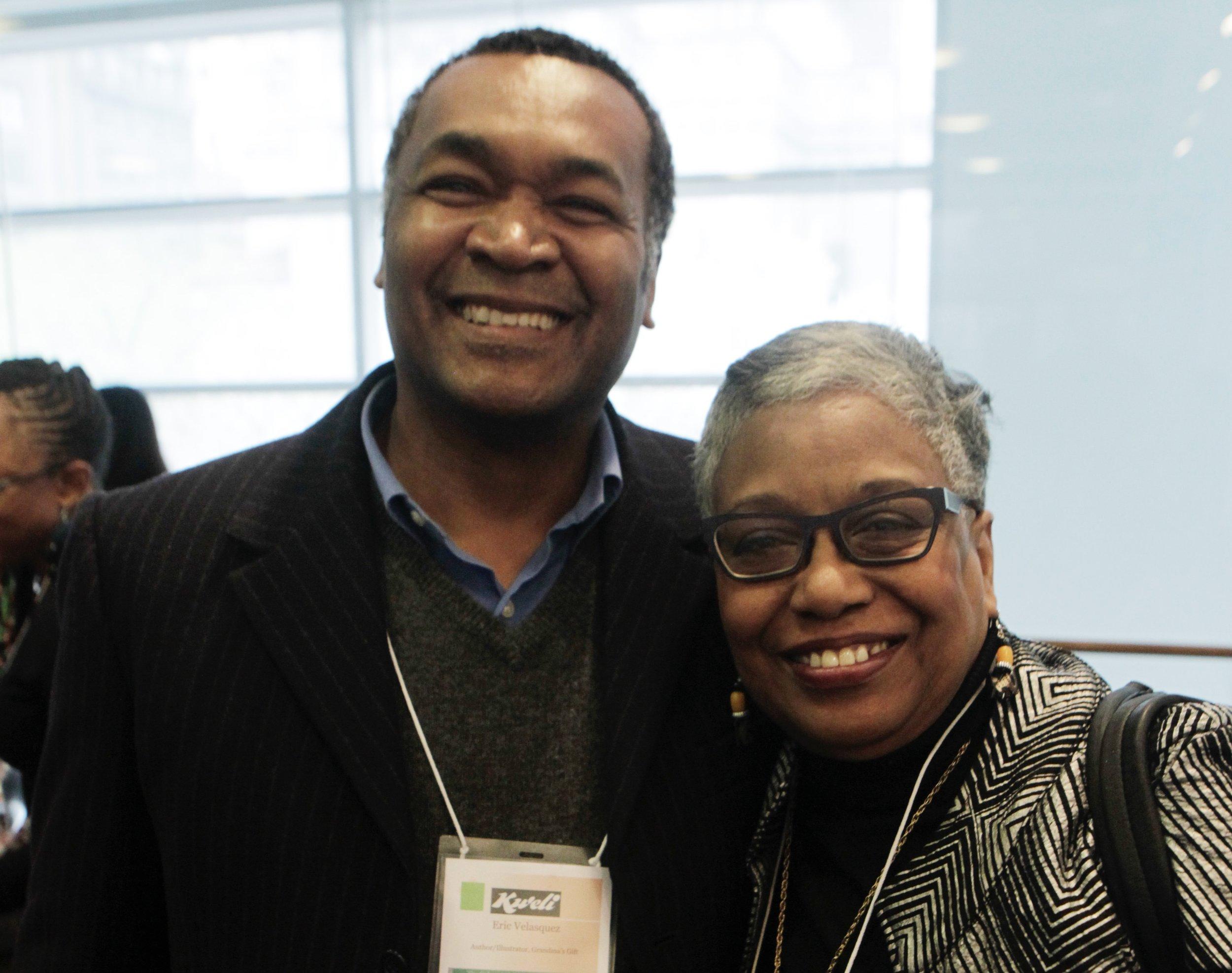 Publisher Cheryl Hudson and Illustrator Eric Velasquez