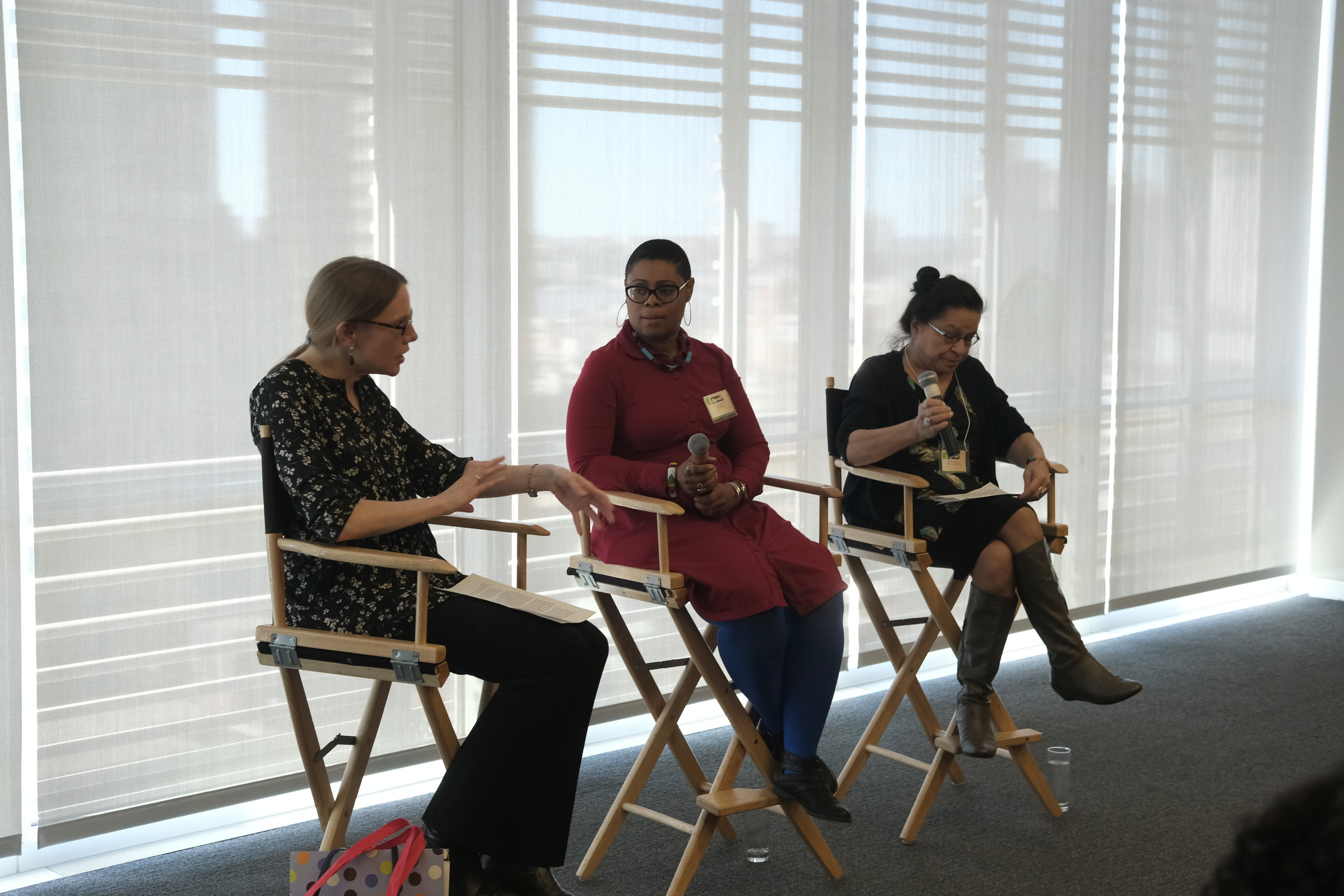 Cheryl Klein, Editorial Director at Lee & Low Books, Ibi Zoboi, author of American Street and Marcie Rendon, author of Murder on the Red River