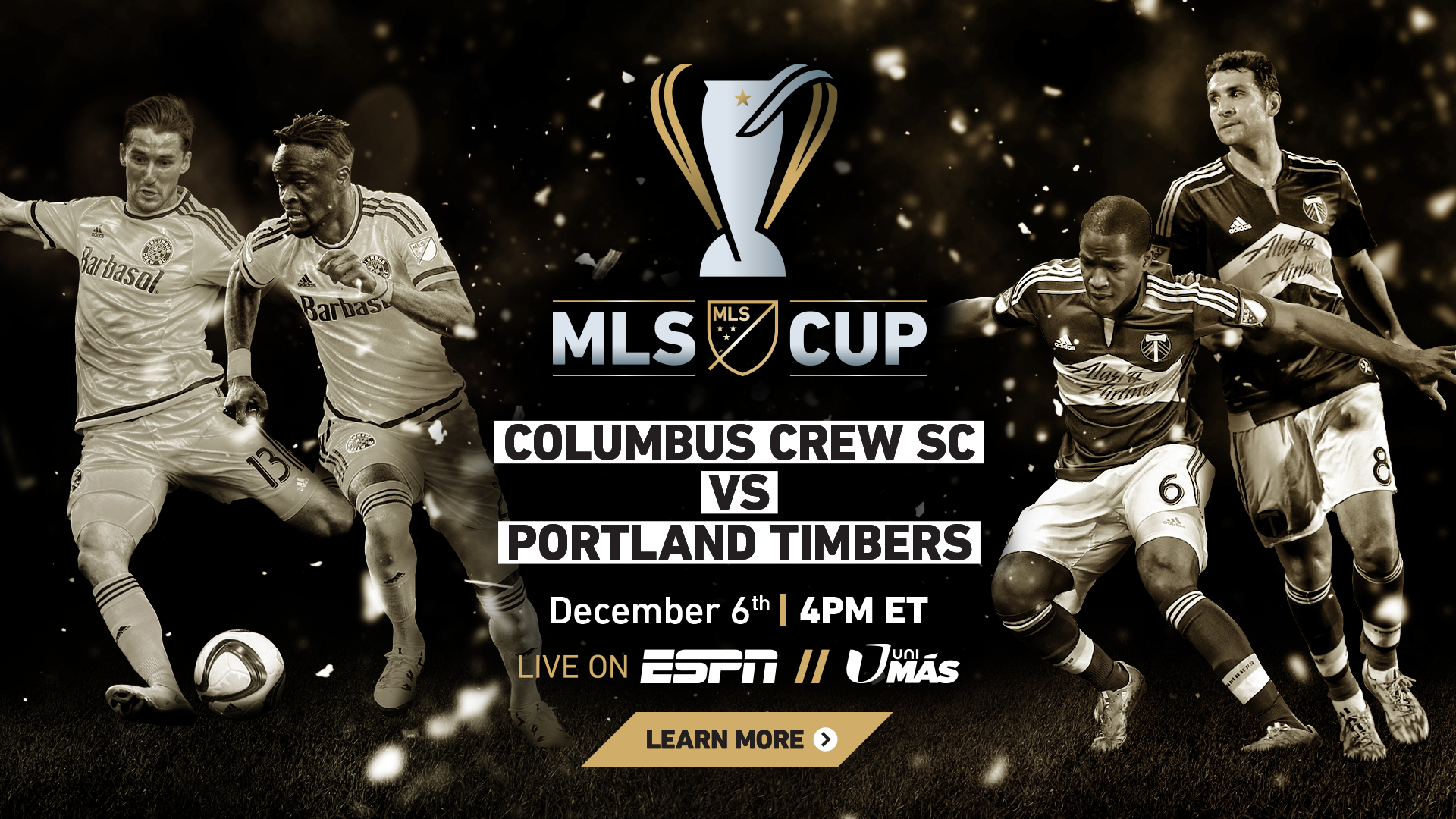 MLS CUP 2015 Tune-in campaign and artwork
