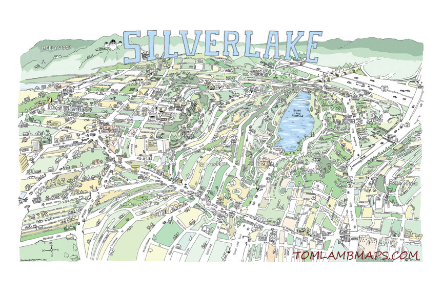 "Silver Lake, CA  12""x18"" $32 / 20""x30"" $52   Product info"