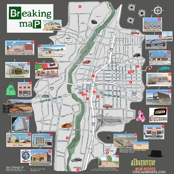 "NEW!  Breaking Map  20""x20"" $32   Product info"