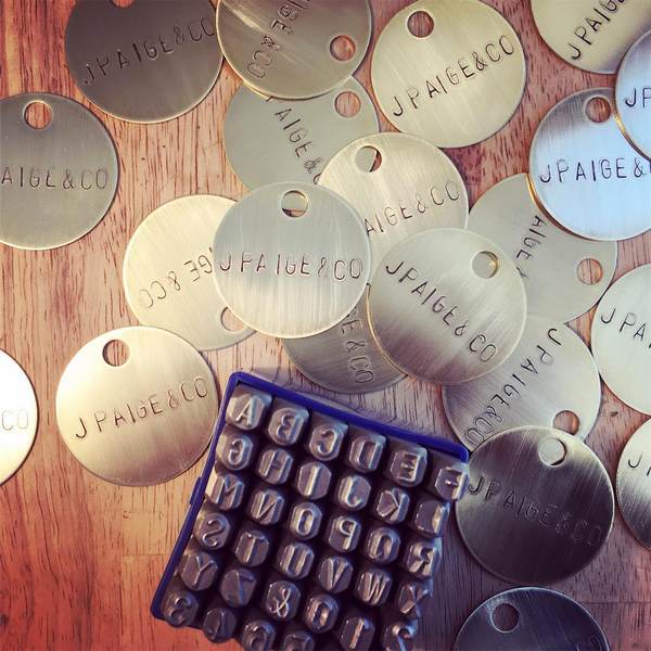 30+ brass medallions custom made for J PAIGE & CO in just a couple days –– busy bees we are!