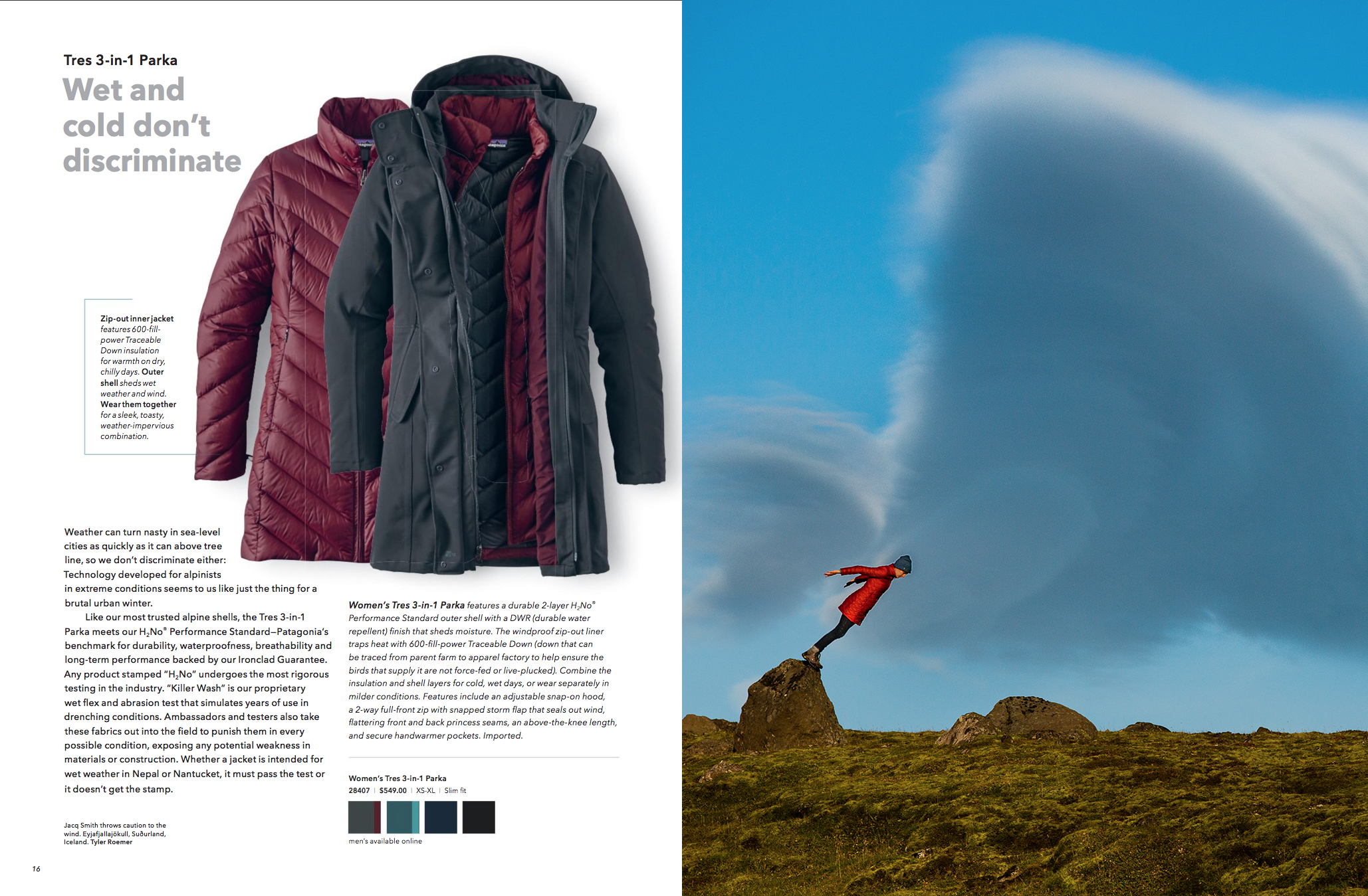 Published in Patagonia OCT 2016 catalogue, photo by Tyler Roemer