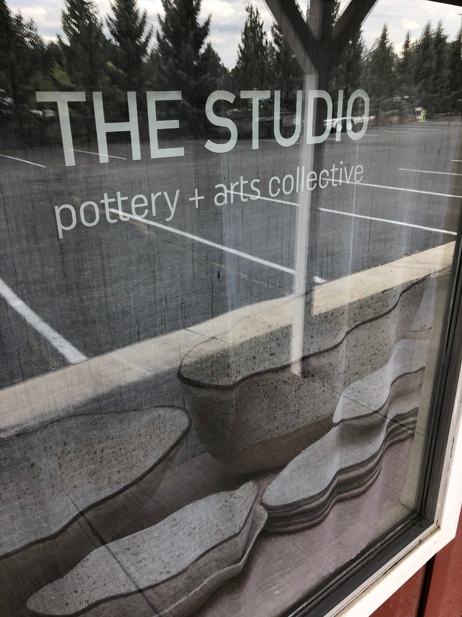 Signage for The Studio is, of course, printed on a beautiful fabric and still allows lights to fill the space.
