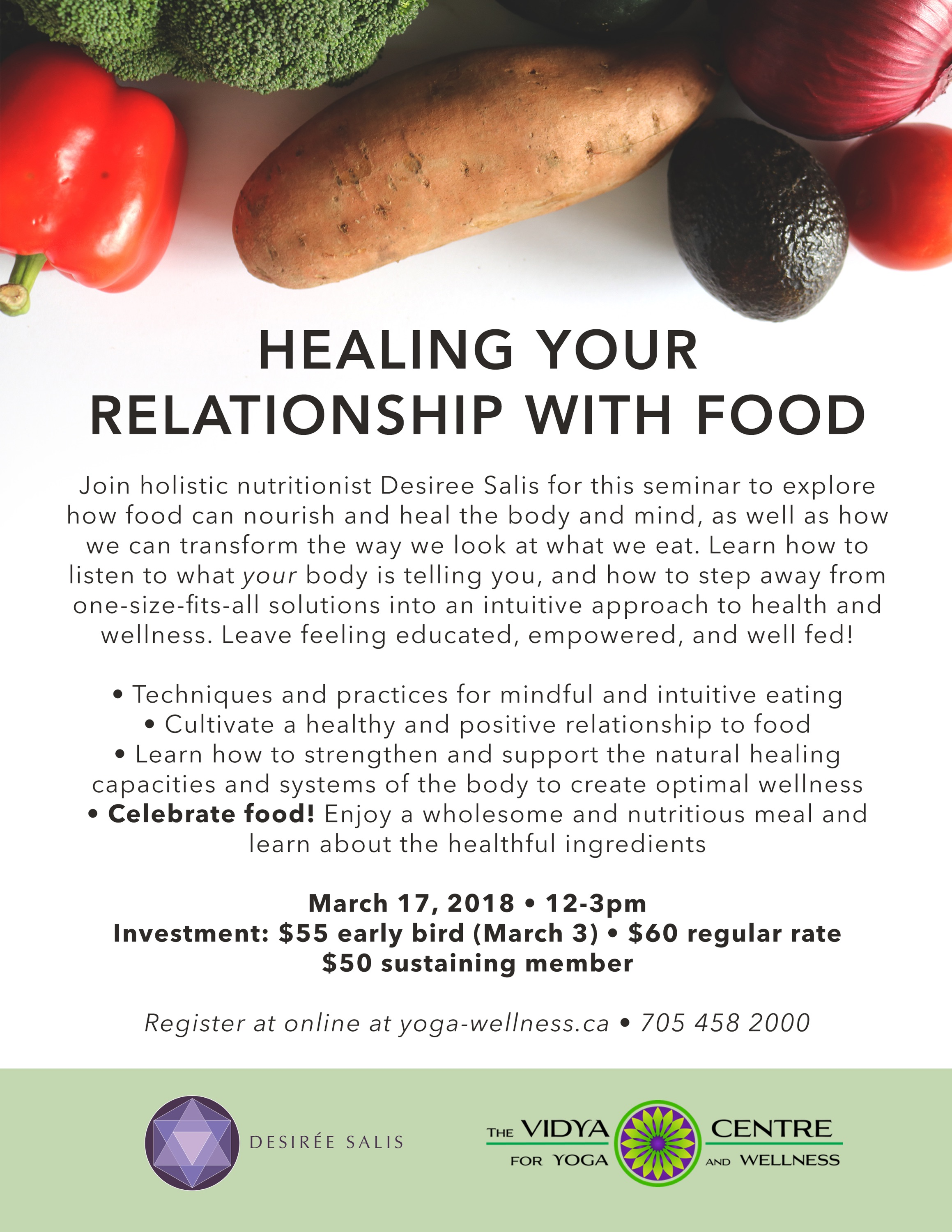 To register for this event please call the front desk (number on poster) or  Email Desiree Directly