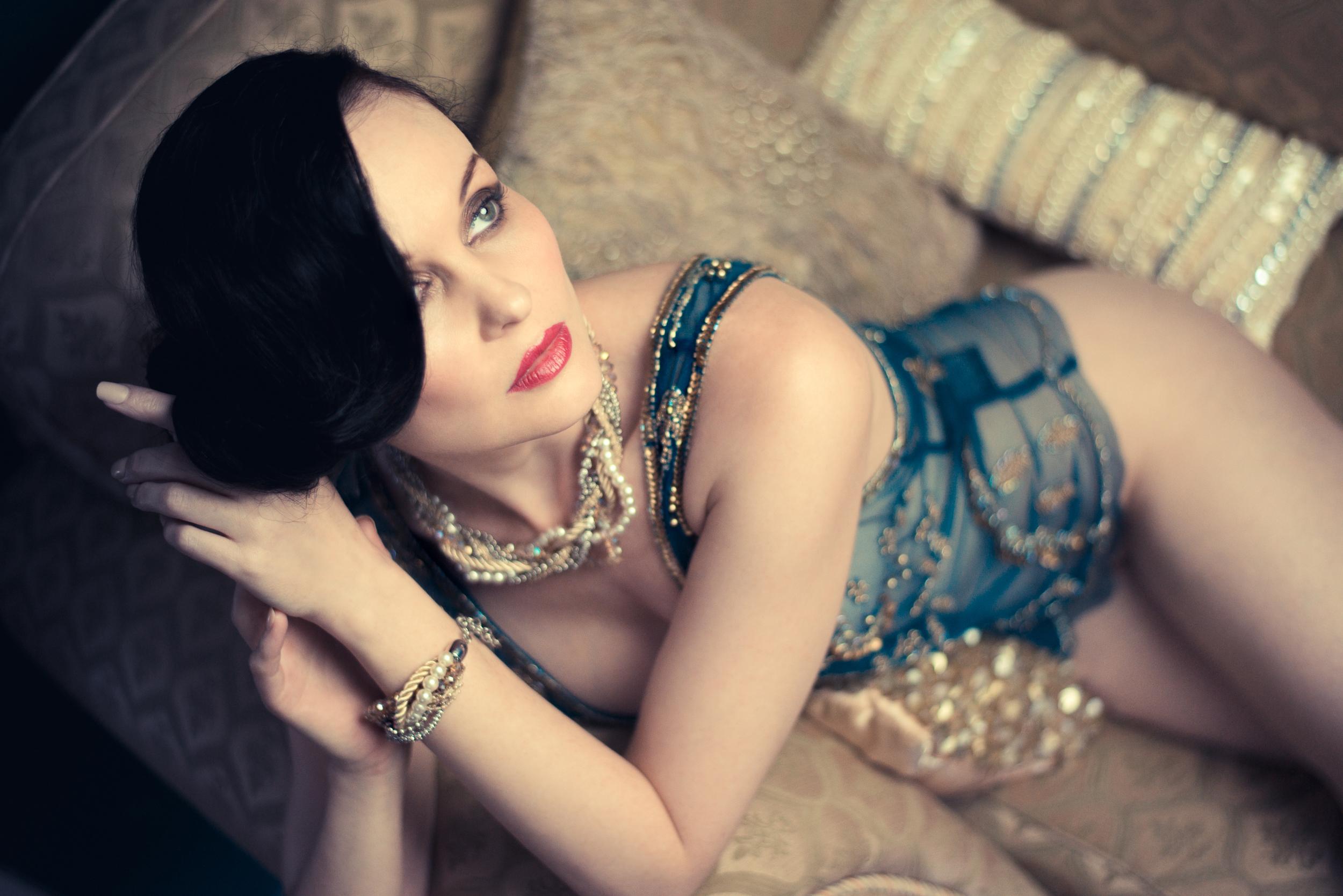Model: Anne Duffy  HMUA:  Burton Yuen  Stylist:  Gian Designs