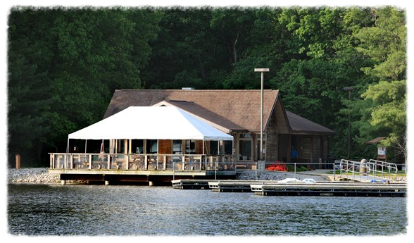 The covered pavilion at Beaver Dam State Park.