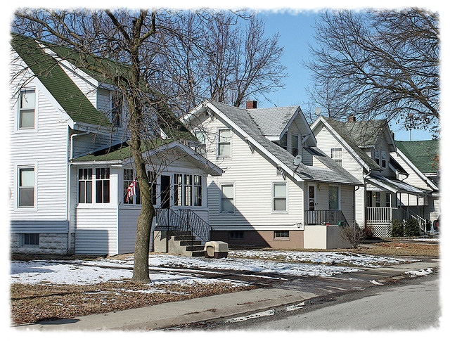 A row of Sears kit homes in Standard Addition.