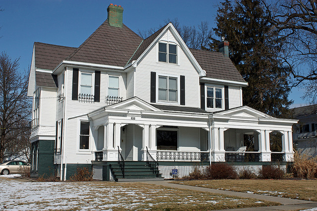 One of the beautiful 19th century homes found in Carlinville's historic district.