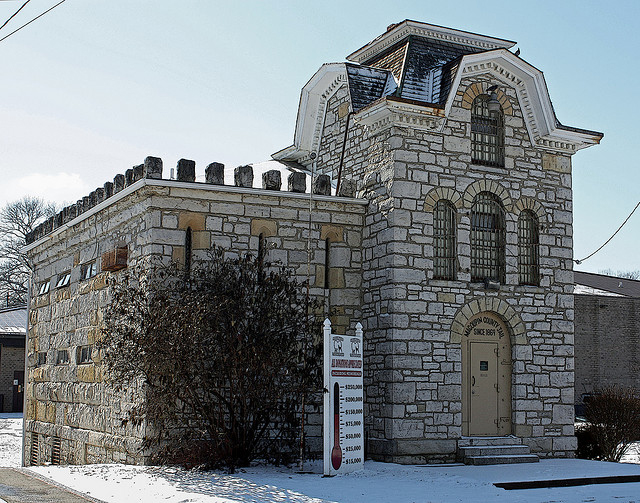 "The historic ""cannonball"" jail."
