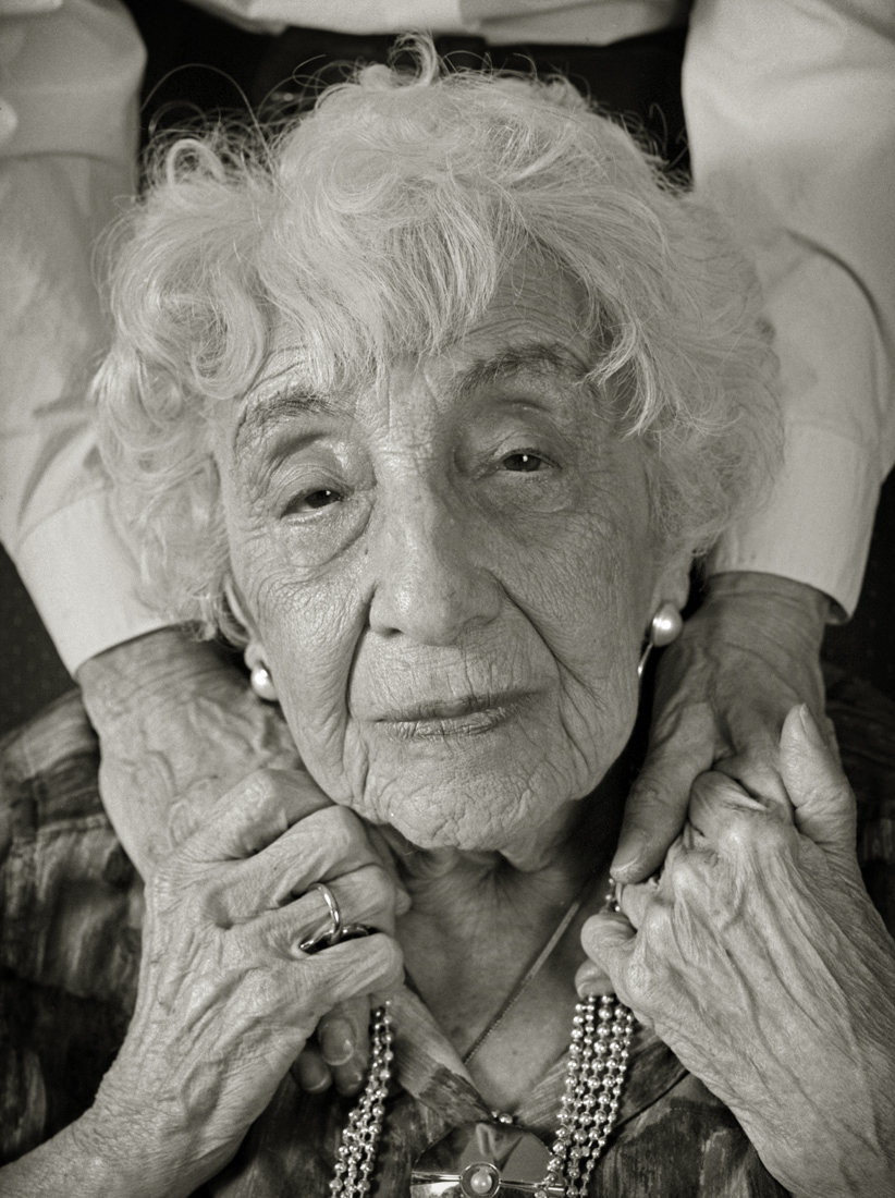 Rose Magyar and the hands of her daughter Judith, who survived the camps together.