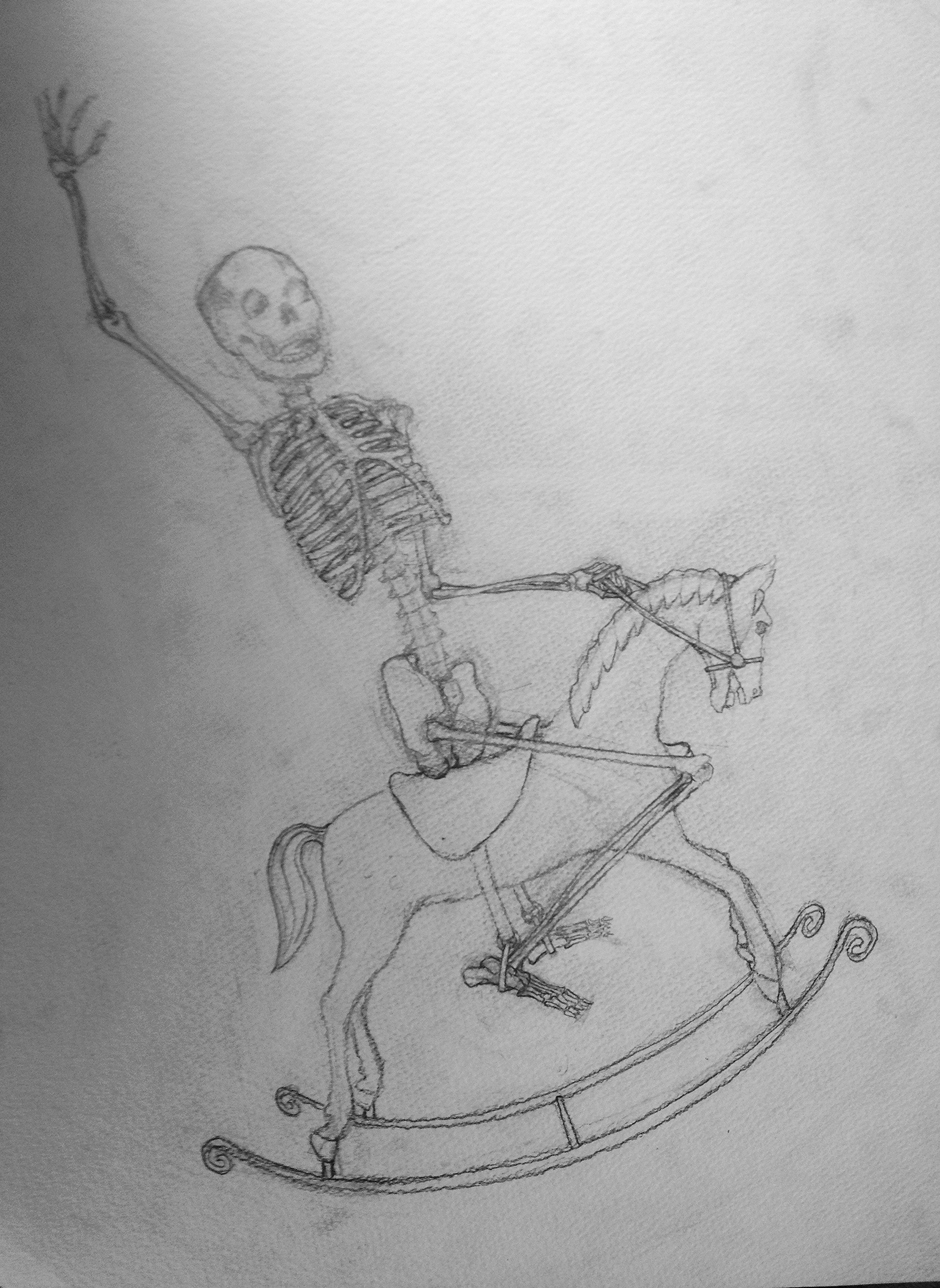 Untitled (Skeleton + Antique Toys 2)
