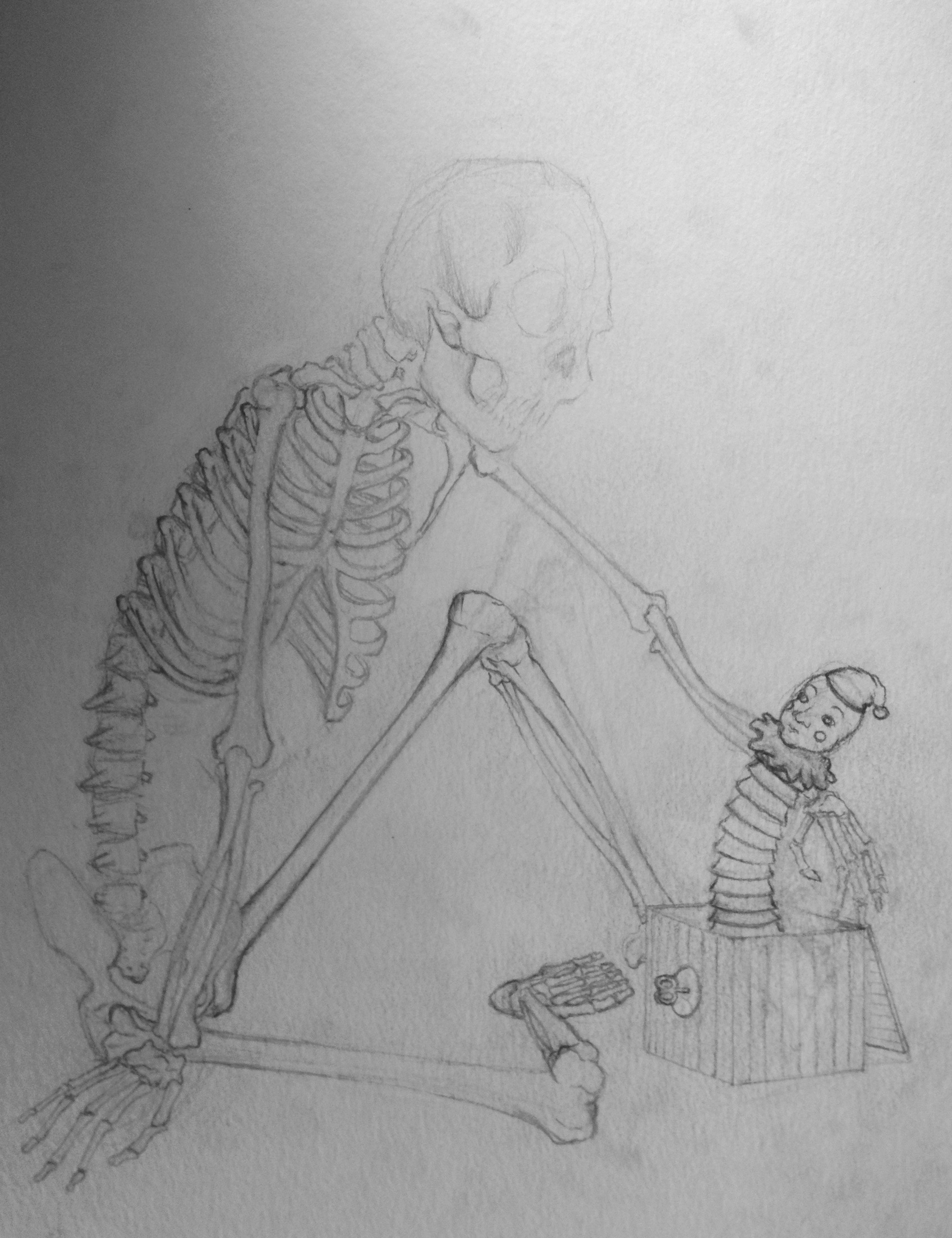 Untitled (Skeleton + Antique Toys 1)