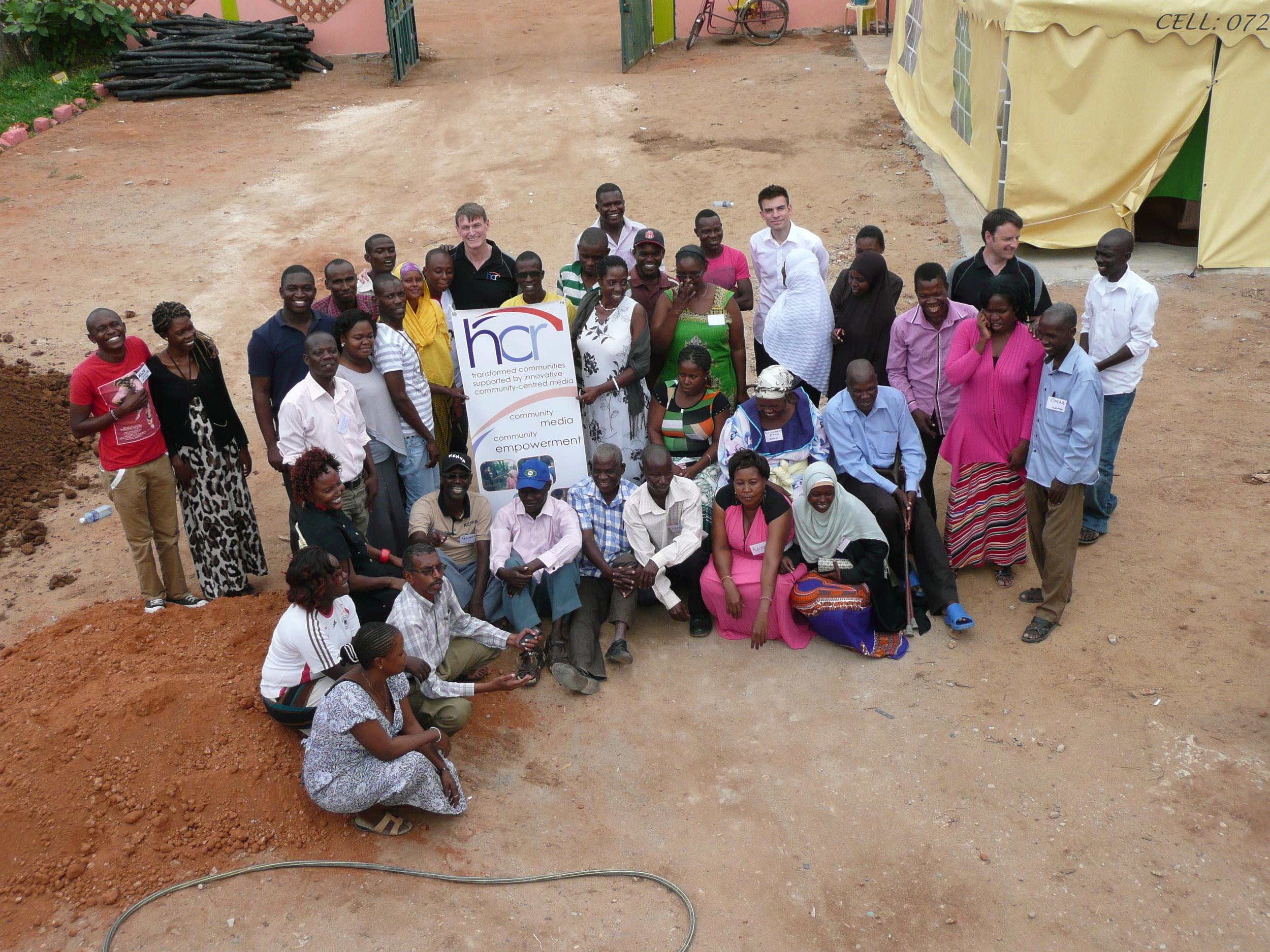 Jon, Alex and Alex with community members from Tana Delta, Kenya.