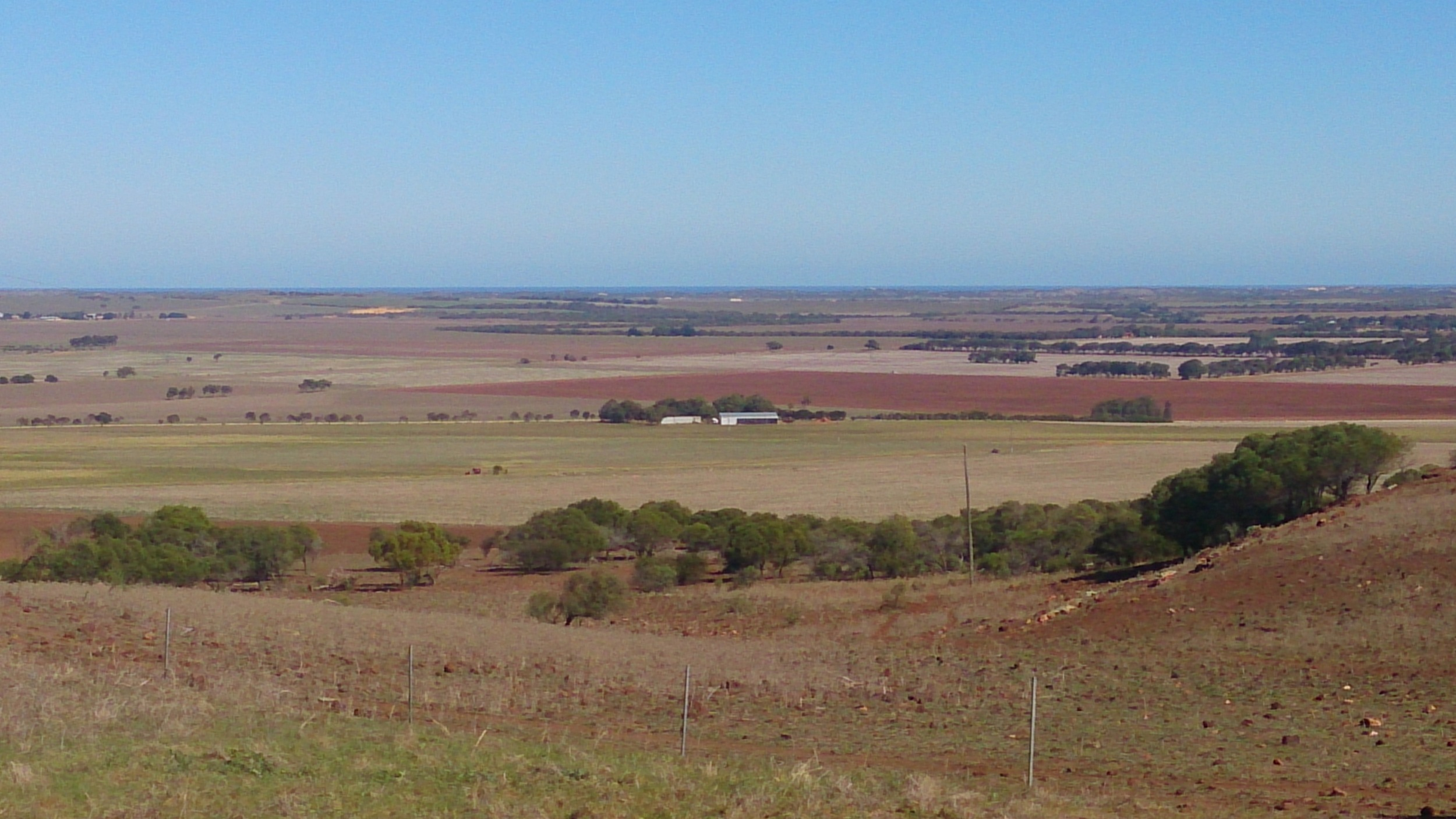View from Gunnadoo Farm.  You can just see the ocean in the background.