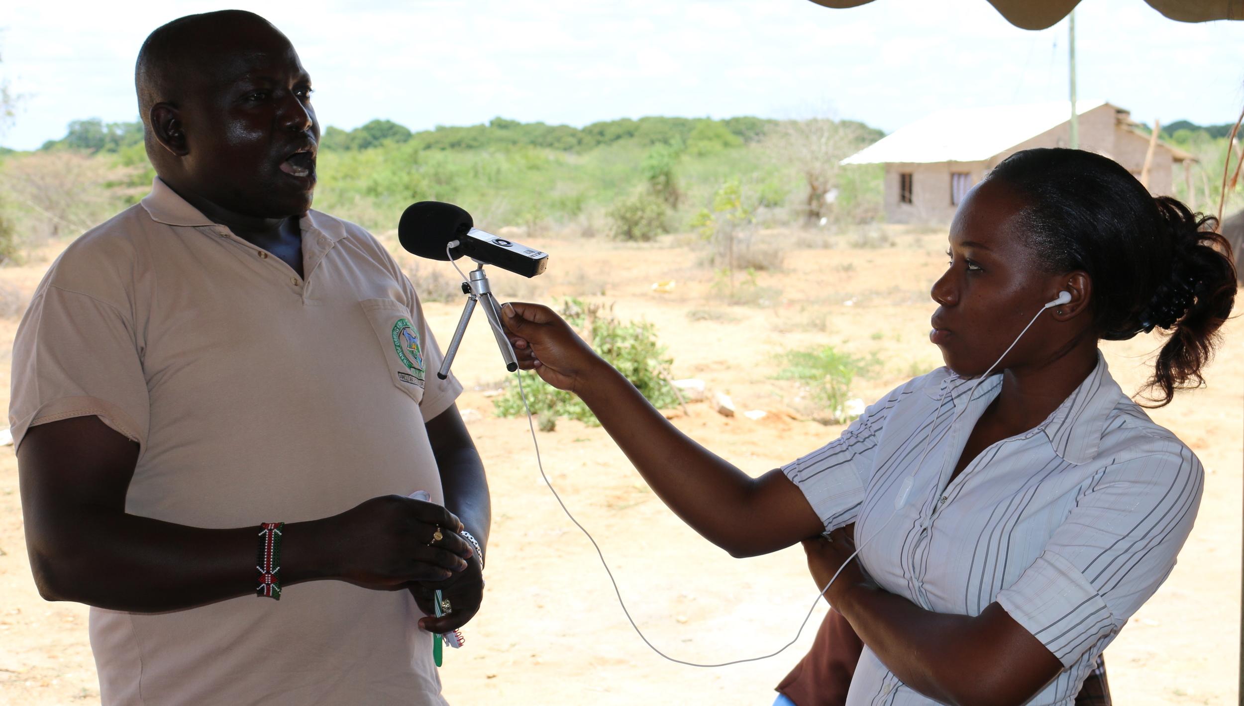 Tana FM producer Maureen talks to Peter Munyonki from the County's Disaster Response Team