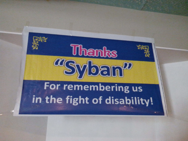 Syban has received praise from the community for its efforts to support people with disabilities.