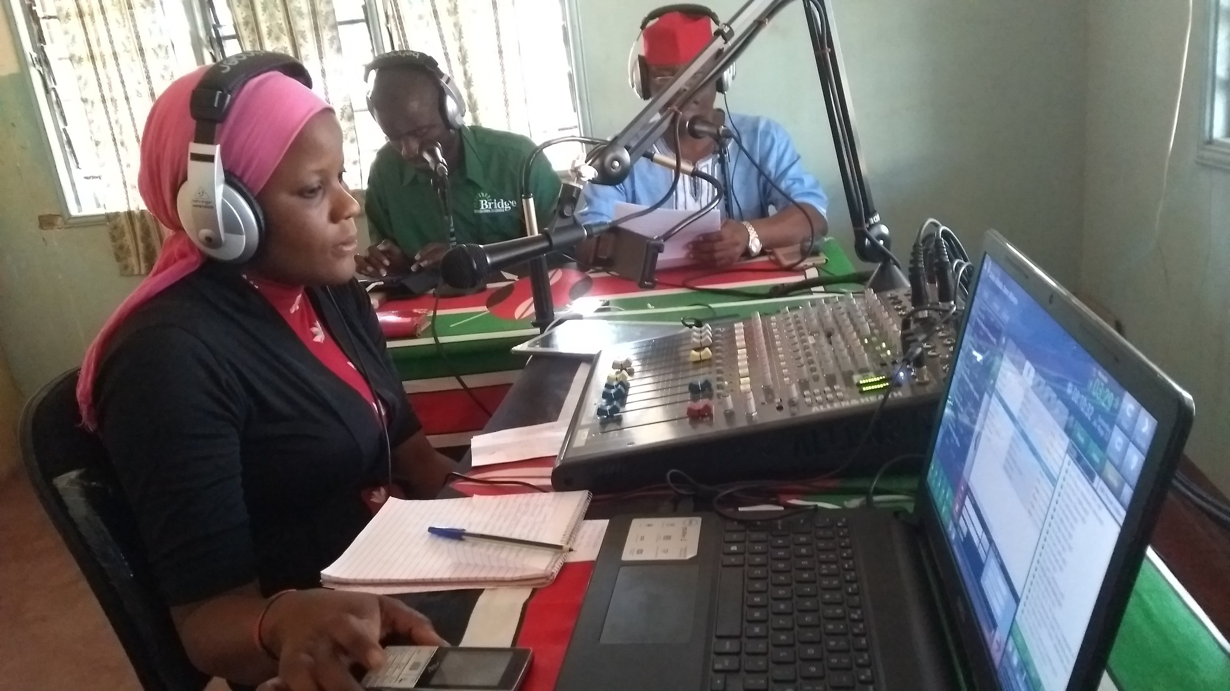 "Hancy Funana presents ""Tuanze Biashara"" (we start a business) on Amani FM in Tana River, eastern Kenya"