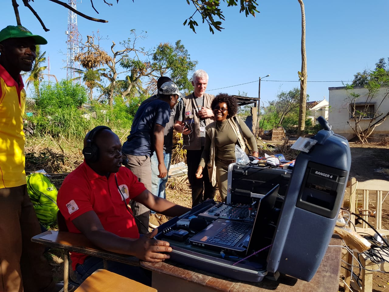 Radio Buzi gets back on air, March 2019, Buzi. Photo credit: UNOCHA