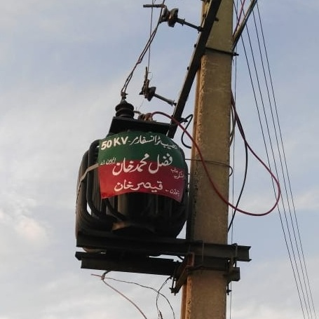 New transformer in Majukay village, May 2019. HCR Pakistan