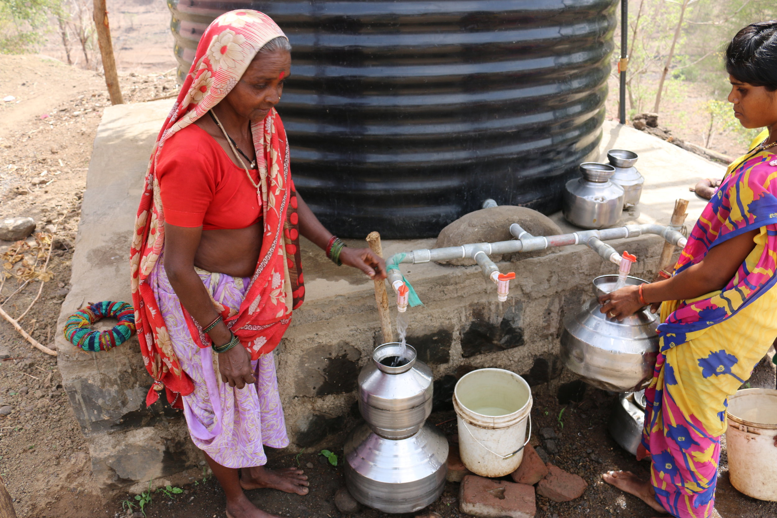 New wells and water tanks mean the people of Kahandol will never run out of water again.