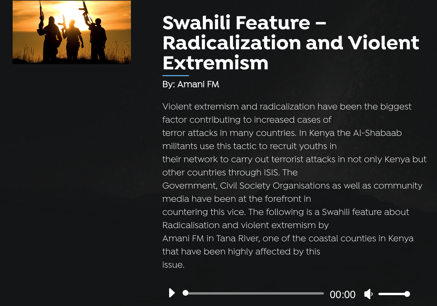 Creative radio programmes like this one tackle the challenge of extremism and radicalisation of youth