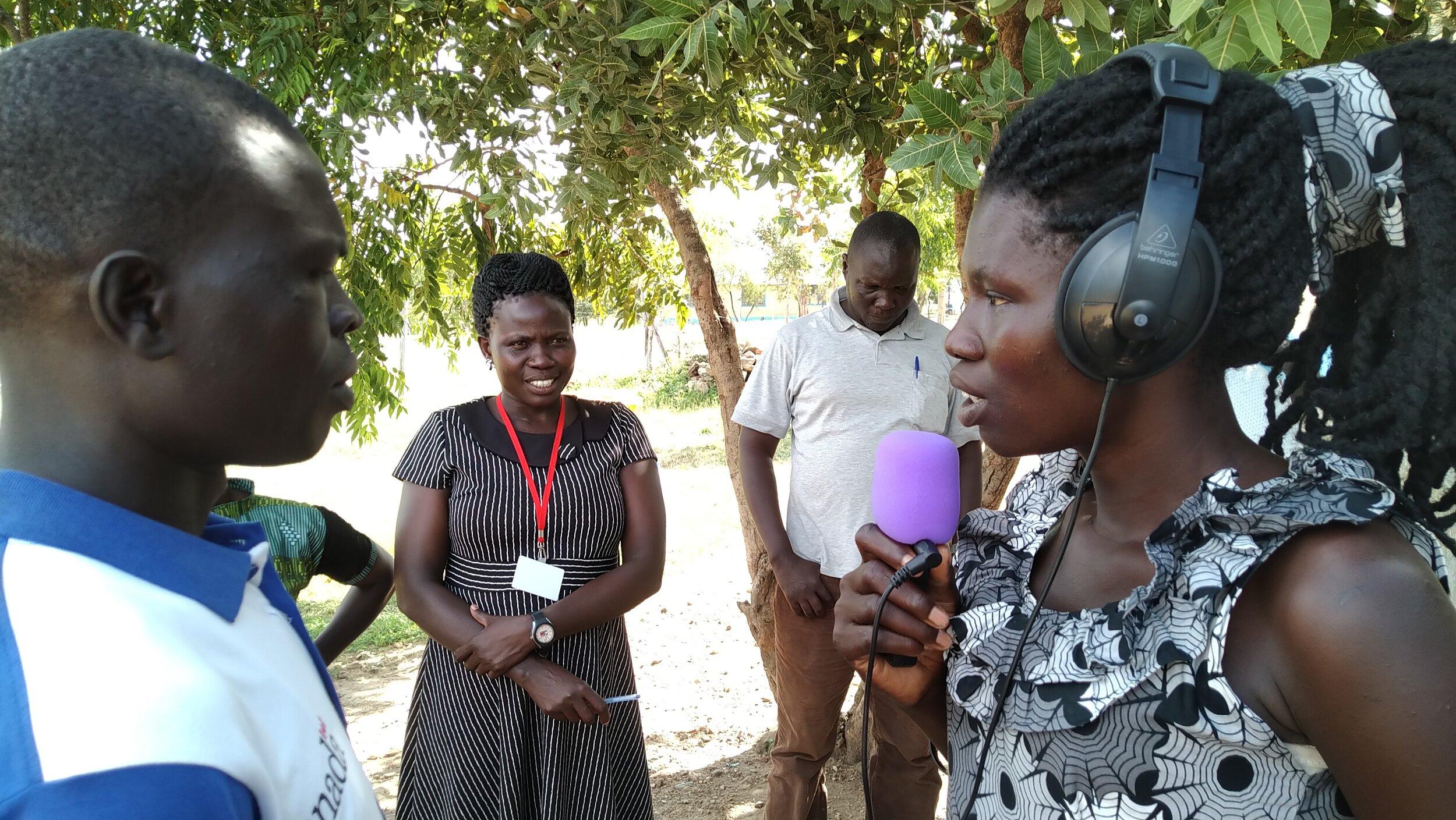 Listening to community voices in Omugo zone, Uganda. HCR, 2019