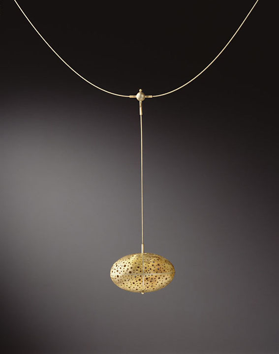 Perforated Egg Necklace