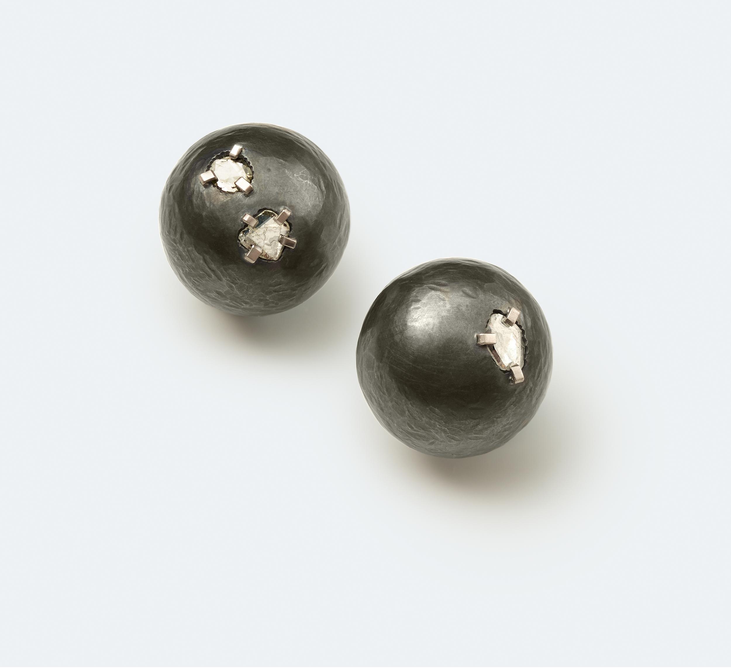 Diamond Rock Earrings Small