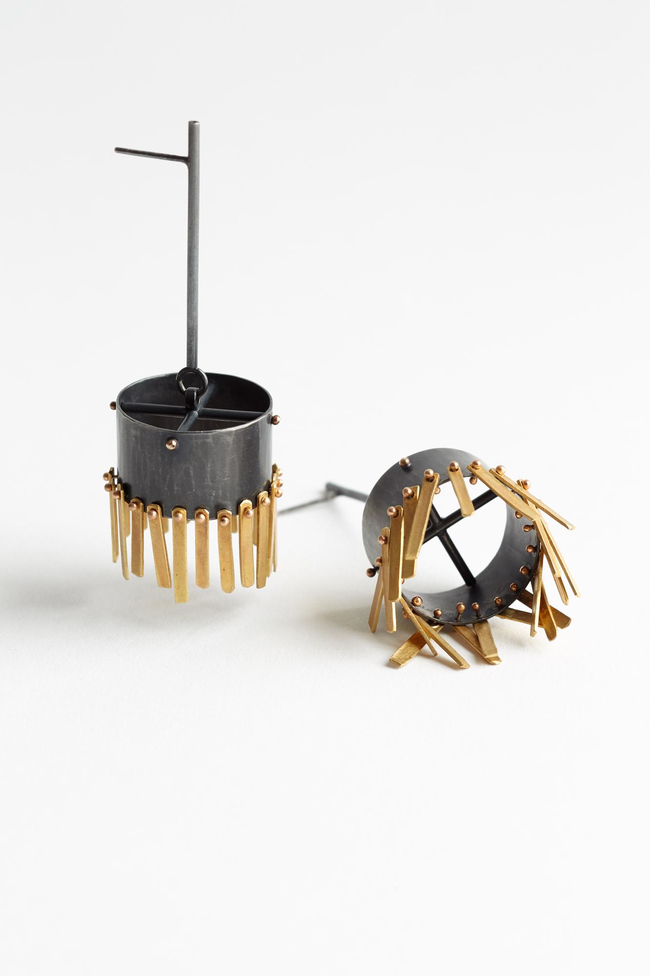 Barrel Fringe Earrings