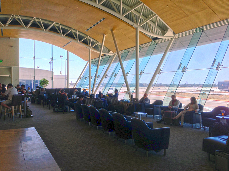 The Admirals Club in Terminal 4 at LAX. Worth every penny.