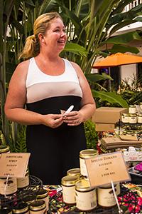 Aletha Thomas of Monkeypod Jams at a local Kauai farmers' market.