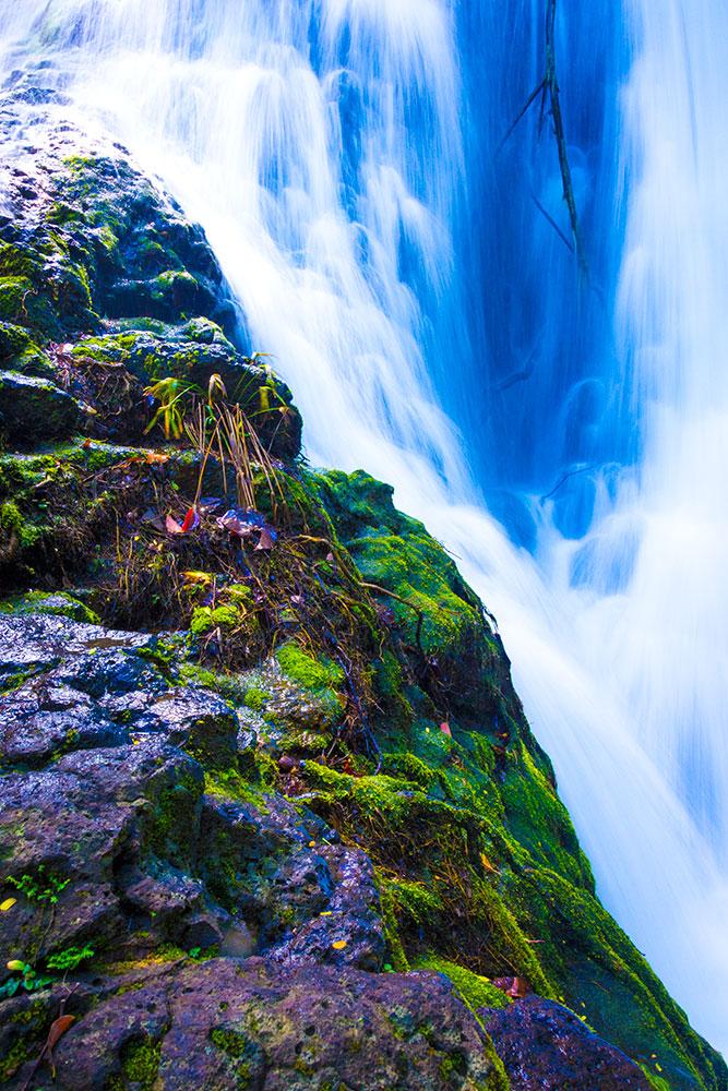 Cascading waterfall on Kauai