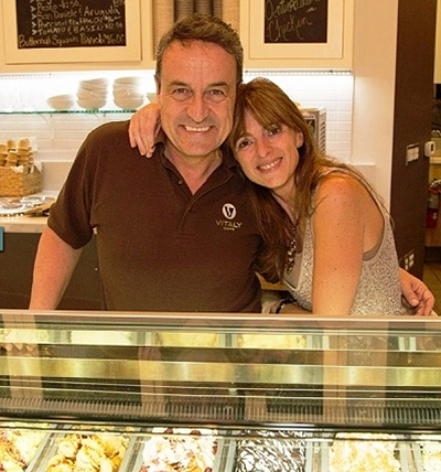 Maurizio and Barbara Cocchi, your hosts at Vitaly Caffé. (Source: Vitaly)