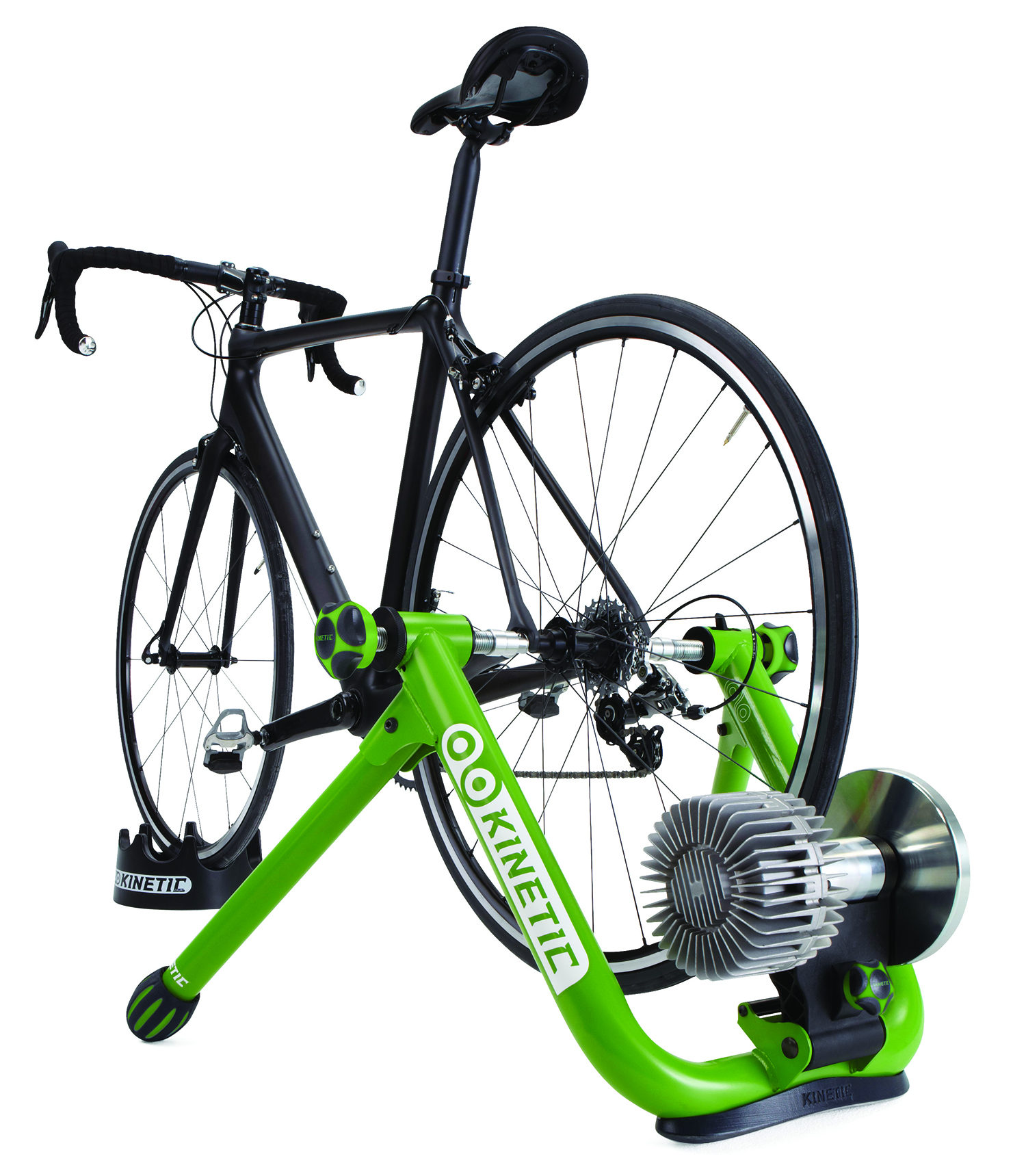 You can quickly attach your bike to a resistance trainer to get a great indoor workout.  Photo credit: Kurt Kinetic