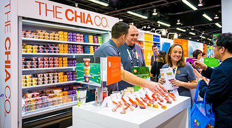 Colorful, delicious and just darned good for you. If there was a booth we didn't want to leave, it was The Chia Co. Their Chia Pod cups and chia-infused oatmeal are outrageous. We still get hungry just looking at this picture.