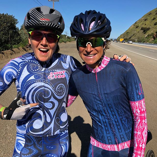 It really is something special to witness an incredible group of women come together over the love of endurance sport, the desire to train their bodies and the passion towards learning new skills ... together.  Today was day two of the @dixiedevilsport training camp near Malibu California. We mixed it up with the @ridemgf through mountains and the PCH. The challenging route itself paled in comparison to the bike tossing gusts of winds we fought at every turn. No where to hide yet no one backed down. We found strength from each other. We celebrated the completion of a pretty swirly day...wind swept and upright. Stronger for it all.  #dixiedevilsport #britecoaching