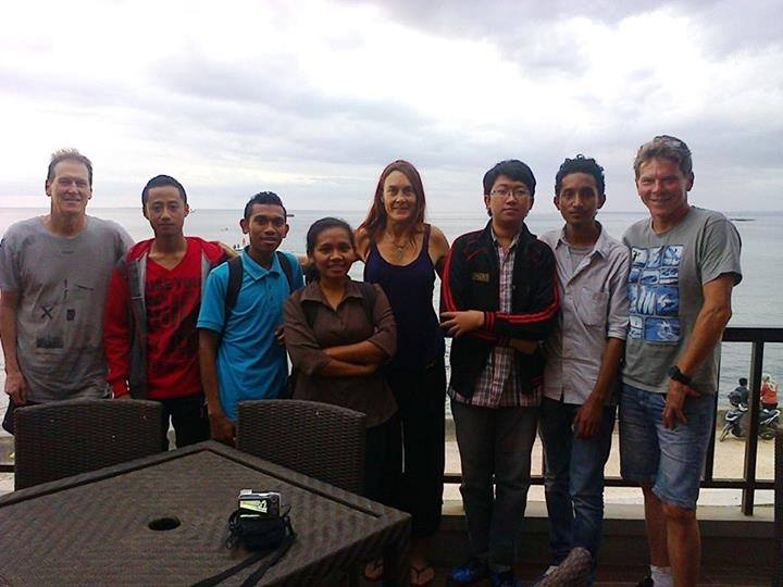 Australian university students participating in UniBRIDGE visit their counterparts in Kupang, Indonesia.