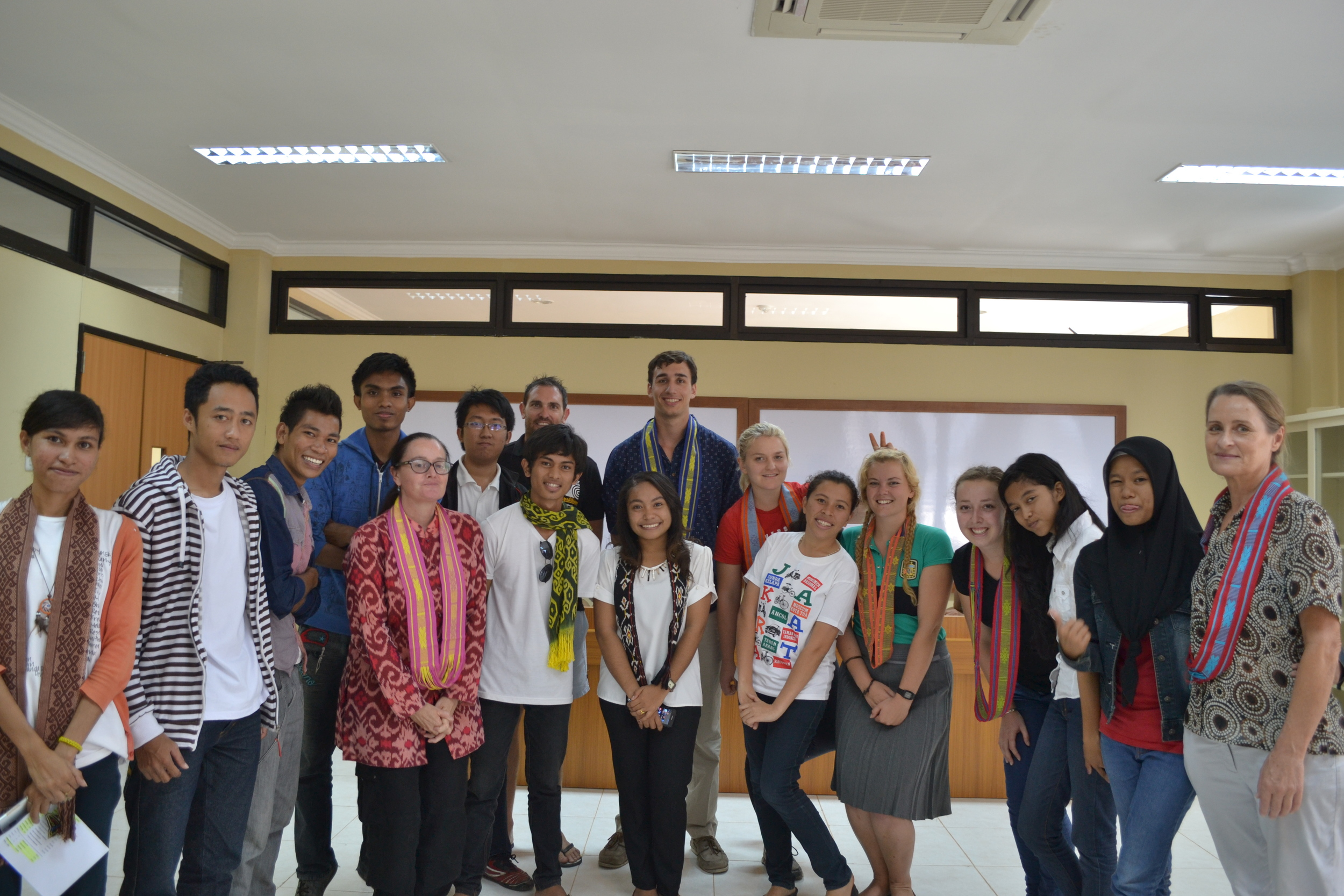 UniBRIDGE participants from CDU visit their Indonesian counterparts in Kupang, Nusa Tenggara Timur. June-July 2014.