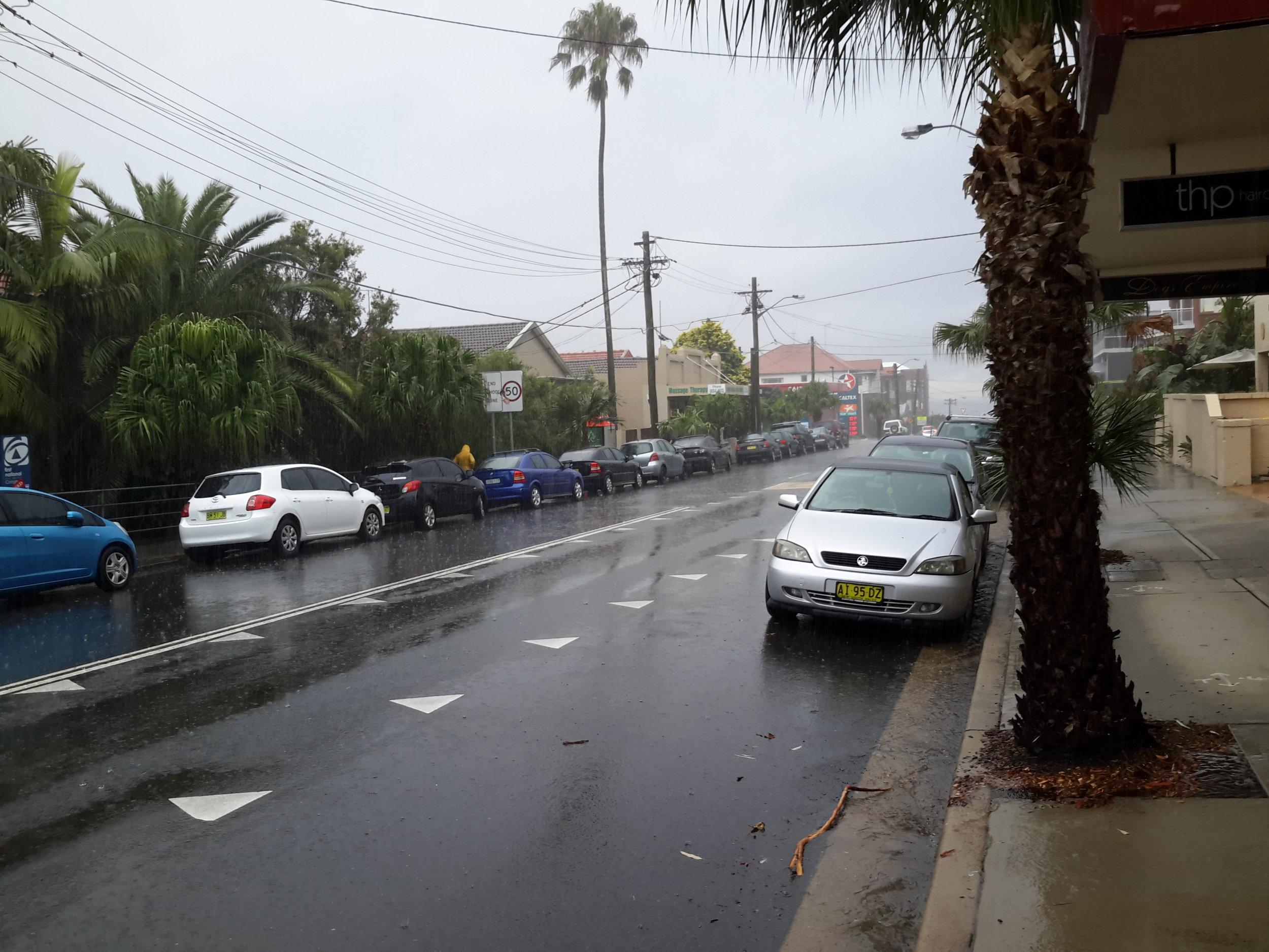 A rainy day in the neighbourhood