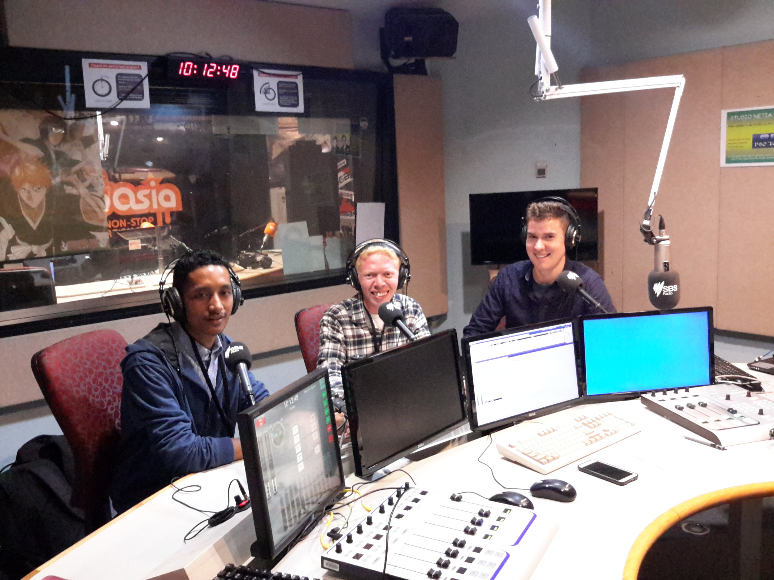 Steven & Qrezpy talk about UniBRIDGE Project on  SBS Radio  in Sydney, August 2016